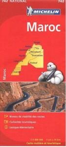 mapa Michelin Maroc